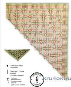 Ideas for crochet scarf diagram shawl patterns Crochet Scarf Diagram, Crochet Wrap Pattern, Crochet Chart, Crochet Stitches, Crochet Patterns, Crochet Shawls And Wraps, Knitted Shawls, Crochet Scarves, Crochet Bunny