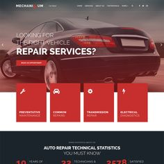 This fully responsive Car Repair WordPress Theme will help you to create a noticeable website for your car repair business. Almost ready-to-use website theme Design Websites, Do It Yourself Videos, Simple Wordpress Themes, Electrical Maintenance, Website Header, Bike Design, Design Art, Web Design, Graphic Design