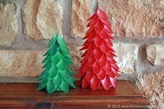 Plastic Spoon Christmas Trees