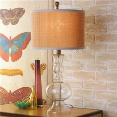 Glass Spindle Table Lamp
