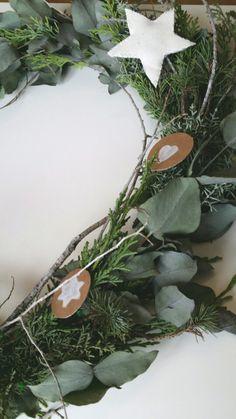 Love Christmas ornaments. Garland easy and cute! DIY. Adorno navidad de inspiración nórdica. My scandinavian xmas!