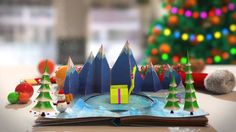 Pop Up Book - Christmas Card Animation Business Message Video Christmas Messages, Christmas Wishes, Merry Christmas And Happy New Year, Christmas 2014, Holiday Cards, Christmas Cards, Google Plus, Birthday Book, Up Book