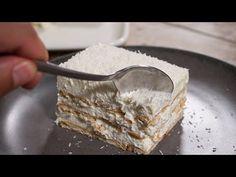 Εύκολη Πρωτοχρονιάτικη Πάστα Χιονούλα ΜΟΝΟ με 5 Υλικά - Coconut mousse cake - YouTube Easy Desserts, Food To Make, Pie, Ice Cream, Sweets, Bread, Youtube, Recipes, Christmas
