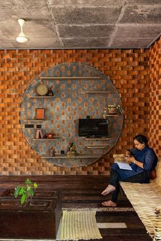 Green Architecture, Sustainable Architecture, Architecture Design, Exterior Design, Interior And Exterior, Brick Construction, Eco Friendly House, Bridal Mehndi, Brickwork