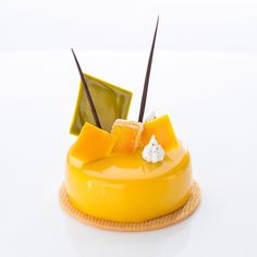 L'abricot yoghurt mousse apricot cremeux lime madeleine #pastry #passion #patisserie #mandarinorientaltaipei #cakeshop #taipei #taiwan by frankhaasnoot