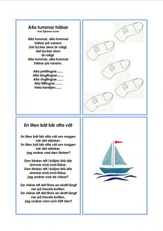 Sångkort om kroppen. Diy For Kids, Crafts For Kids, Learn Swedish, Swedish Language, Educational Activities For Kids, Kids Songs, Pre School, Montessori, Singing