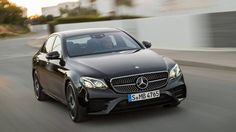 The Mercedes-AMG uses a twin-turbo with 396 horsepower and 384 pound-feet of torque and installs it into the luxury sedan. Mercedes Benz 2017, Mercedes E Class, Benz E Class, Car Images, Car Pictures, Photos, Car Pics, Future Concept Cars, Future Car