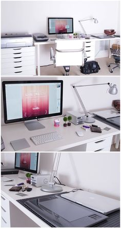 70 Trendy home office creative workspace inspiration Bureau Design, Workspace Design, Office Workspace, Office Interior Design, Home Office Decor, Office Interiors, Office Ideas, Study Design, Organized Office