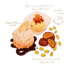 「栗のお菓子。」/「k_hamsin」のイラスト [pixiv]
