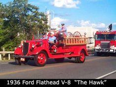 "Wallington Fire Department, Sodus, NY - 1936 Ford Flathead V-8 ""The Hawk"" #antique #NewYork #vintage #fire #setcom #throwback #firetruck #oldschool http://setcomcorp.com/firewireless.html"