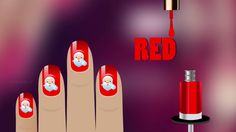 Learn Colors with Surprise Nail Art Designs   Colours to Kids Children T...