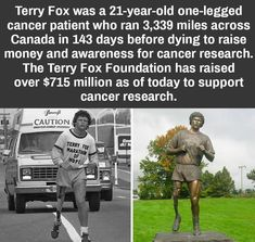 Terry Fox the wholesome madlad : Damnthatsinteresting Deep Sleep Music, Motivational Memes, Anxiety Treatment, Cancer Support, 21 Years Old, Faith In Humanity, Good People, Amazing People, Inspiring People