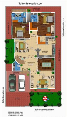 [ Front Elevation Kanal House Drawing Floor Plans Layout Square Yards And Plan Home Kerala ] - Best Free Home Design Idea & Inspiration 3d House Plans, Modern House Floor Plans, Indian House Plans, Model House Plan, Basement House Plans, House Layout Plans, Duplex House Plans, Floor Plan Layout, Best House Plans