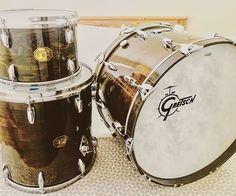 Gretsch USA Custom Drum Set Kit SSB 1974 Ebony Gloss Vintage 128 1616 2214