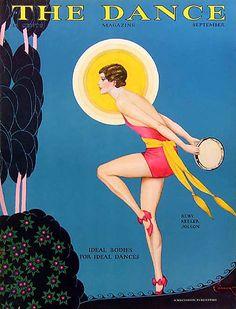 The Dance Magazine, September 1929 ~ Cover illustration of Ruby Keeler (Mrs. Al Jolson at the time) Old Magazines, Vintage Magazines, Vintage Ads, Vintage Posters, Vintage Prints, Vintage Dance, Vintage Ballet, Vintage Images, Harlem Renaissance