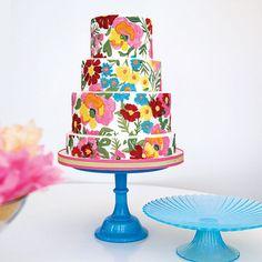 Mexican print Wedding Cake