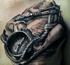 Best Compass Tattoo For Men