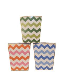 Bargello Wastebaskets by Dana Gibson from Grace Hayes Linens