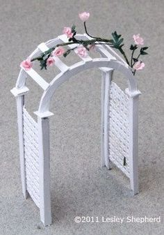 Make A Printable Miniature Garden Arbor For Dollhouse Or Wedding Decor