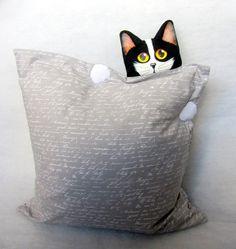 Наволочки - наволочка и Quot;, где кошка и Quot;? - Дизайнер кусок LilyTiger на DaWanda