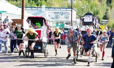 Great Klondike International Outhouse Race. Dawson City, Yukon...we had a team put together, made an outhouse, and ran the race, so much fun, but we didn't place since there were some very serious racers who meant business out on the course...