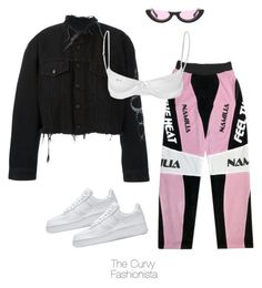 """Untitled #1229"" by thecurvyfashionistaa ❤ liked on Polyvore featuring NIKE, County Of Milan and Mariesa Mae"