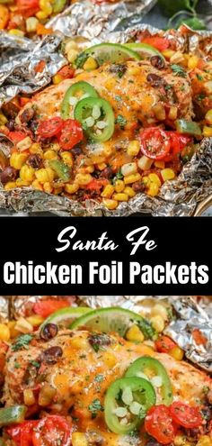 Santa Fe Chicken Foil Packets - pinerday.com