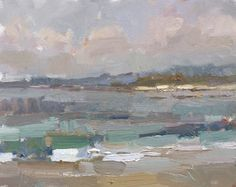 """Roos Schuring New paintings- Seascapes and landscapes plein air: Painting in California 17 """"Afternoon at Monastery Beach"""" (sold)"""