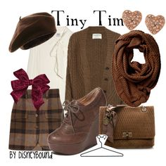 Disneybound's Tiny Tim - I love brown for clothes. It's much subtler than black.