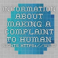 Information about making a complaint to Human Rights…