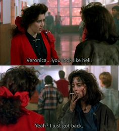 Shannon Doherty and Winona Ryder in Heathers