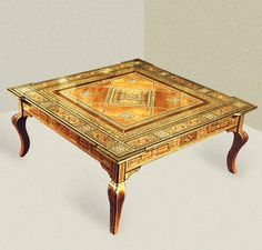 Amazing Typical Patterned Moroccan Wood Coffee Table Model With Cabriole Legs Style With Glass Top Coffee Tables Also Coffee Tables And End Tables of Attractive And Stylish Coffee Table Suited For Living Rooms Of Traditional Style Homes from Interior Ideas