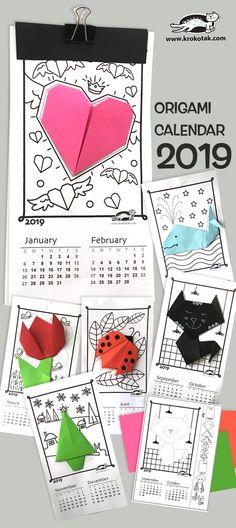 Printables: Origami Calendar Tangram, Geoboard, Bingo Christmas, Long Vowel and Multisyllable Words Origami Star Box, Origami Love, Origami Fish, Origami Art, Origami Folding, Mobil Origami, Origami Mobile, Origami Design, Kirigami