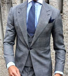 Morning Dress Code Prince of Wales Gray & Toscana Tie all by Absolute Bespoke