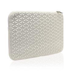 "AmazonSmile: Unik Case White Diamond Foam Splash & Shock Resistant Neoprene Universal Sleeve Zipper Case Bag for All 13"" 13-Inch Laptop Notebook / Macbook Pro / Macbook Unibody / Macbook Air / Ultrabook / Chromebook: Computers & Accessories"