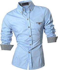 jeansian Men's Fashion Slim Long Sleeves Casual Shirts Dress Shirts Tops Z019 LightBlue S jeansian http://www.amazon.com/dp/B00YM30D12/ref=cm_sw_r_pi_dp_x9I5wb199MHA4