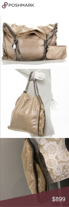 Stella McCartney Falabella NWT Stella McCartney Falabella NWT Taupe Color This is NOT the Foldover. Pouch is detachable. Stella McCartney Bags Totes