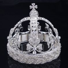 High Quality Crystal Round Princess of Europe Wedding Bridal Tiaras And Crowns Pageant Diadem Bride Crown HairJewelry Accessory Prom Jewelry, Bridesmaid Jewelry Sets, Wedding Jewelry Sets, Hair Jewelry, Bridal Jewelry, Jewellery, Royal Tiaras, Tiaras And Crowns, Wedding Tiaras