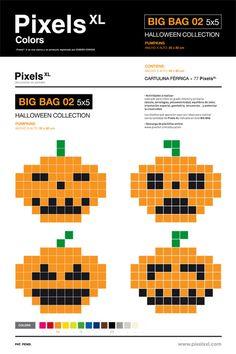 Pixel Pumpkins for Halloween by Pixels XL.