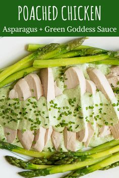 This easy meal of tender and juicy poached chicken with asparagus and a creamy green goddess sauce is light and fresh, perfect for marking the beginning of spring. Moist Chicken, Easy Chicken Recipes, Easy Recipes, Poached Chicken, Chicken Asparagus, Food Lab, Serious Eats, How To Cook Pasta, Quick Meals