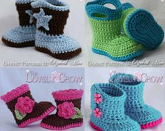 Cowboy Hat Boots Crochet Patterns. Includes by TheLovelyCrow