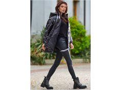 <p>Prošívaná bunda Oversize</p> Leather Pants, Fashion, Moda, Fashion Styles, Leather Joggers, Leather Leggings, Fashion Illustrations