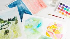 Explore the versatility of masking fluid with watercolor artist Yao Cheng. Yao demonstrates a number of ways you can use resist techniques with watercolor, including abstract and representational patterns using brushes and a pen nib. Then she shows you how to let the watercolors flow over the...