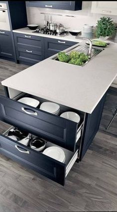 Nice 50+ Awesome Kitchen Cabinets https://decoratio.co/2017/06/19/50-awesome-kitchen-cabinets/ You may see many different island kitchen designs in every home improvement or house design magazines on account of the markets demands. In the end, #homeimprovementaccessories, #HomeImprovementPlans