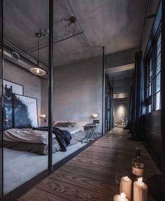 "3,316 Beğenme, 23 Yorum - Instagram'da The Stylish Man 🔹 (@stylishmanmag): ""Love this dark, open space for a #bedroom 🥃 #exposedbrick #stylishinteriors #interior…"""