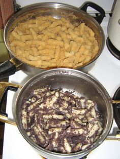 Nudli -- Hungarian (Mohnnudeln in Austria, sprinkled with a lot of powdered sugar) ~ love these -- they're comfort food!