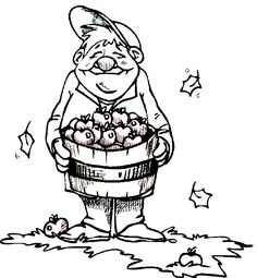 fall coloring book pages autumn coloring apple picking coloring page leaves and apples
