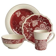 Maribeth Dinnerware - this would be a great set for the holidays but versatile to use at other times as well
