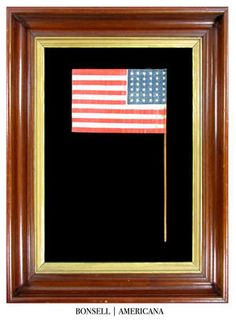 36 Star Antique American Flag with Consistently Canted Stars | A Desirable Civil…