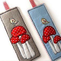 Three Toadstools Bookmark